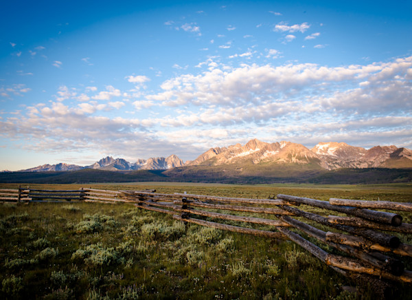 Sunrise Over Sawtooths - Stanley Idaho
