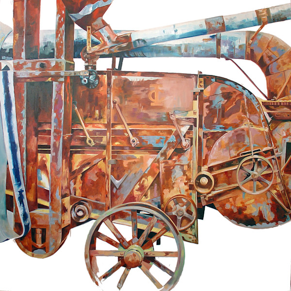 Thrashing Machine by Richard Jacobson | SavvyArt Market original painting