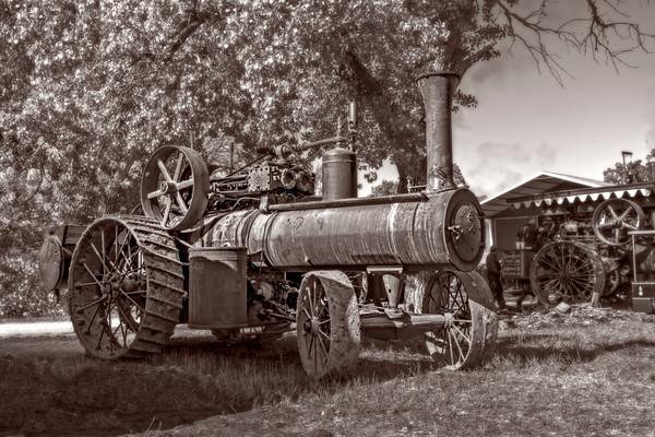 Vintage Reeves Steam Powered Tractor Classic Farm fleblanc