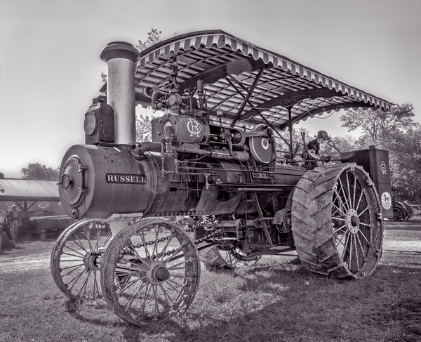 Vintage Russell Steam Powered Tractor Restored Farm fleblanc