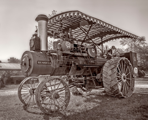 Harvest Russell Steam Powered Tractor Restored Farm fleblanc