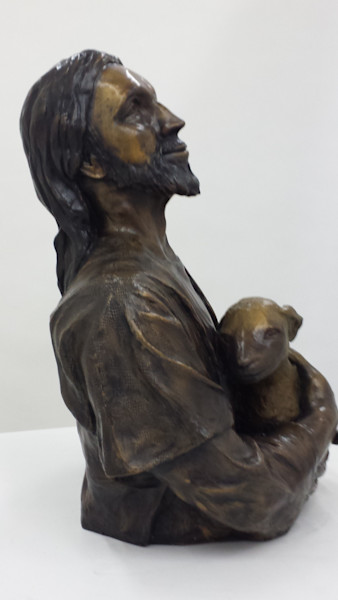 Joy in the Finding bronze sculpture for sale as fine art.