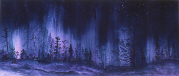 Black Velvet-Aurora Borealis fine art Print For Sale