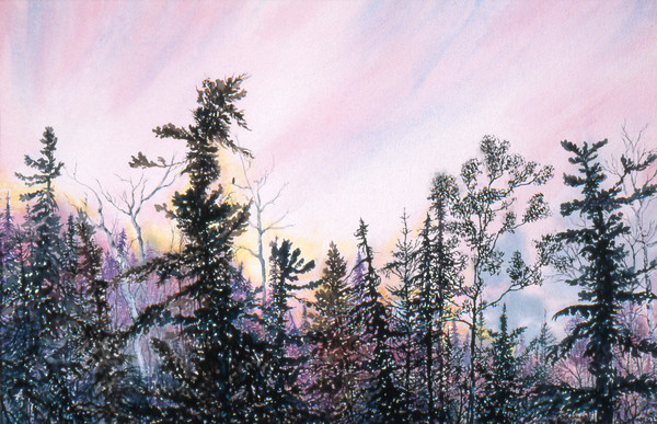 Eagles Nest Sioux Narrows fine art watercolor Print For Sale.