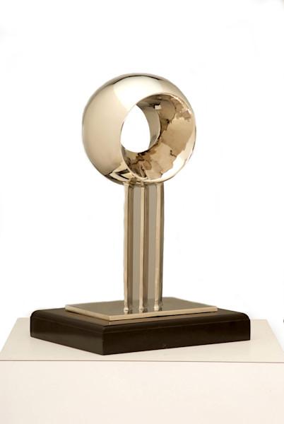 modern design nickel plated bronze fountain study fine art
