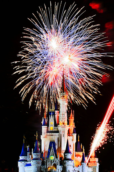 Wishes Fireworks Photograph for Sale as Fine Art