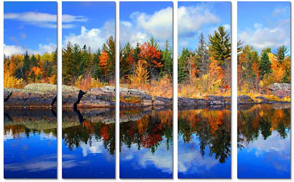 5-Piece Canvas Wall Art - Minnesota - Autumn