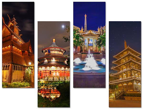 4-Piece Disney Canvas Wall Art - Pavilions | William Drew