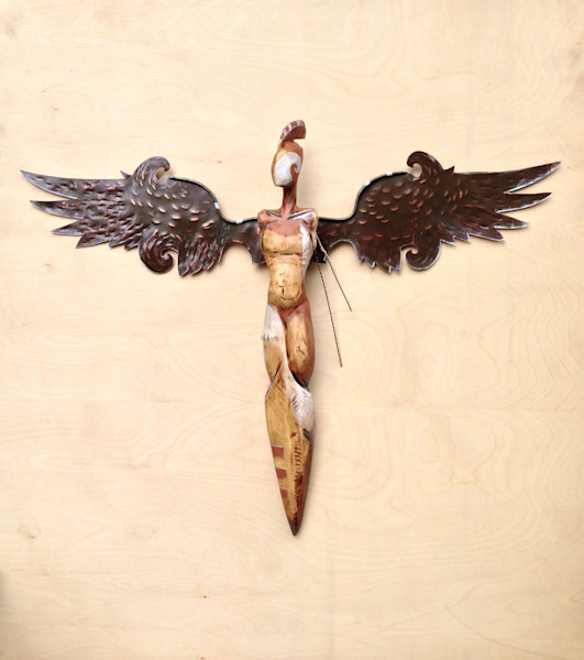 Purchase origional winged male figure artwork