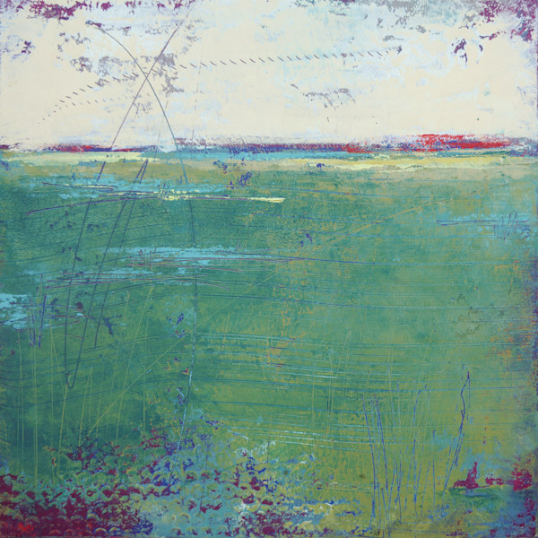 On Course - Coastal Artwork - Green Landscapes
