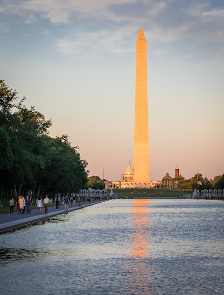 Washington Monument at Sunset Photo for Sale by Barb Gonzalez Photography