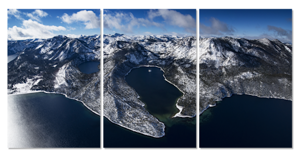 Winter Jewel Emerald Bay 3 Piece Canvas 72x36 Photography Art by Brad Scott Fine Art Photography