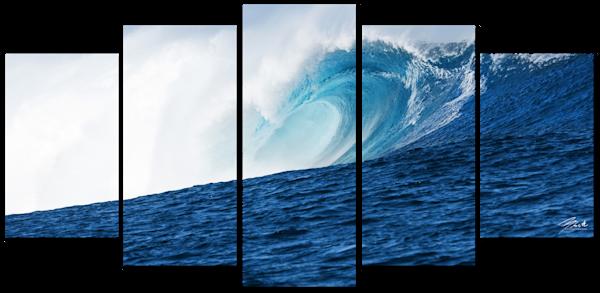 Thundercloud 5 Piece Canvas Art Wall 80x40 Photography Art | Brad Scott Visuals