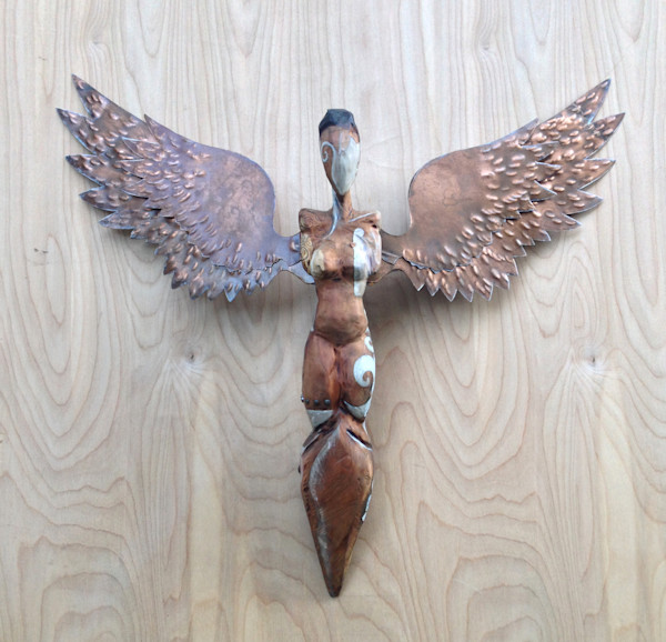 Own Acadian angel winged figure by Kelly Guidry