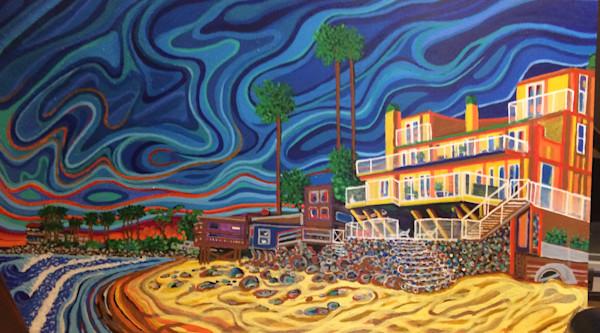 California beach house in  southern California