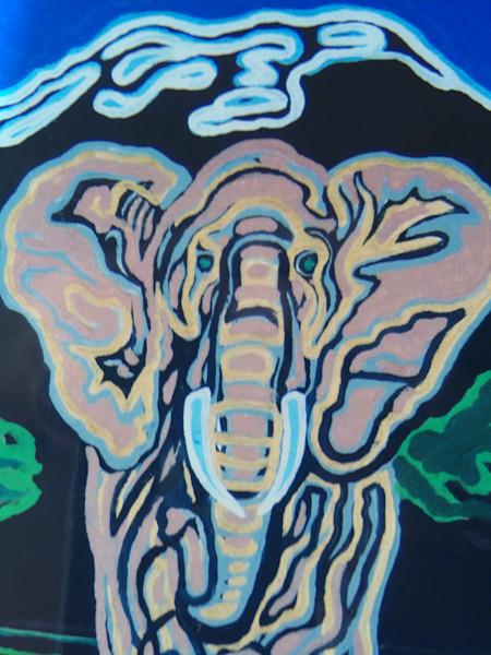 Kilamanjaro African elephant coming right at you!