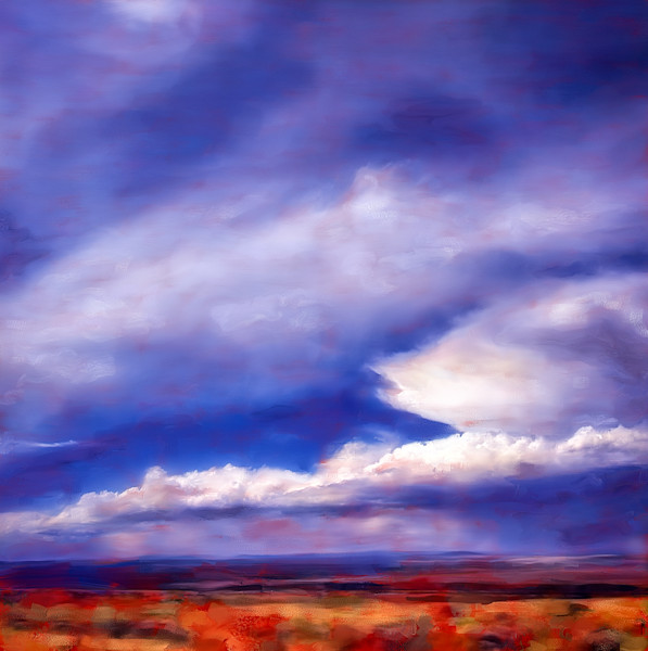 Southwest Vista painting by Christina Stefani-print options