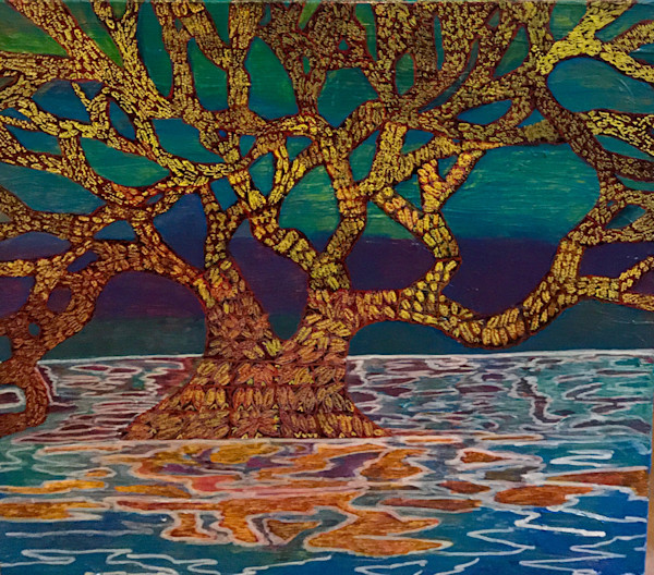 Solace|Abstract Tree Painting|Christina Culverhouse|Abstract Art|Austin, Texas