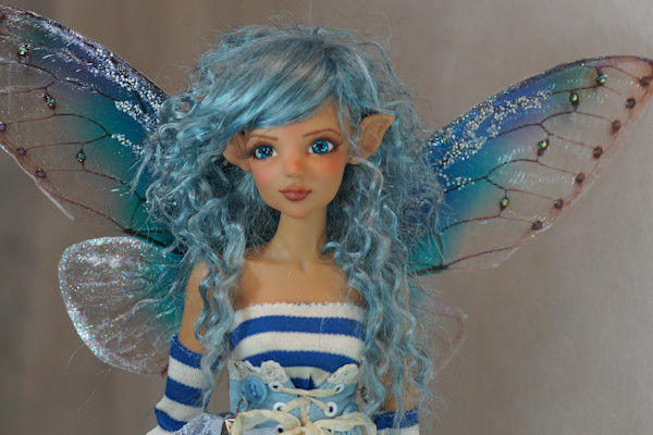 Blue Fairy Looking Left by Bo Bergemann