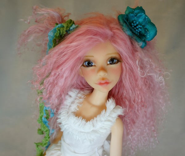 PInkilicious Original Fine Art Doll Print by Bo Bergemann