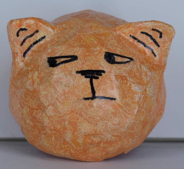 Buy a paper mache grumpy cat face for a fun wall in your home.