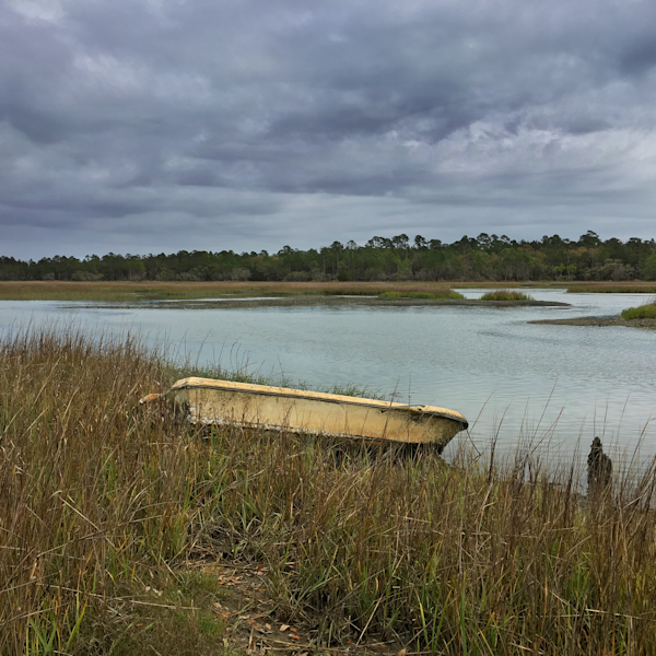 Abandoned boat on Mosquito Beach, James Island