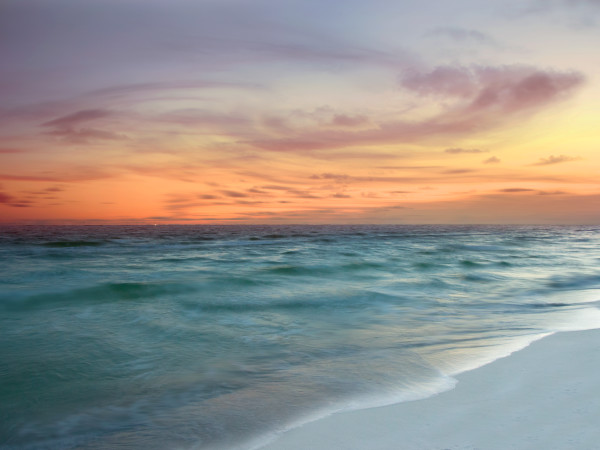 """Beach Sunset"", Fine Art Photograph by Rebecca Benezue"