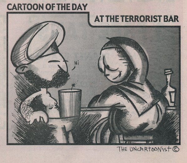 At the terrorist bar