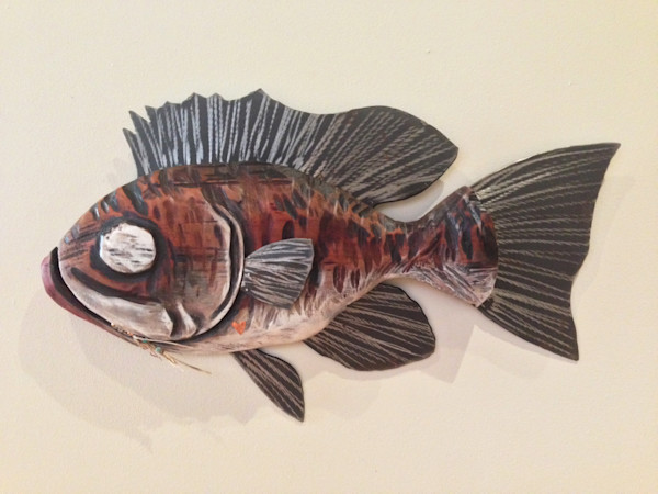 Buy original chainsaw carved fish artwork