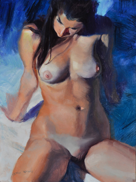 'Nude Leaning Back' art prints by Eric Wallis