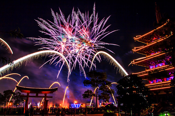 Epcot Illuminations 2 Photograph for Sale as Fine Art