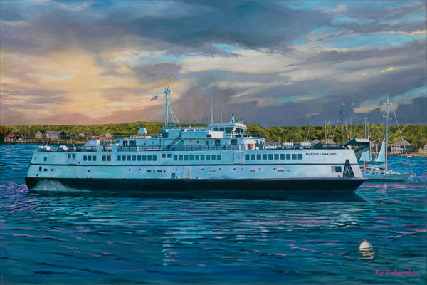 Martha's Vineyard Ferry painting by Kip Richmond