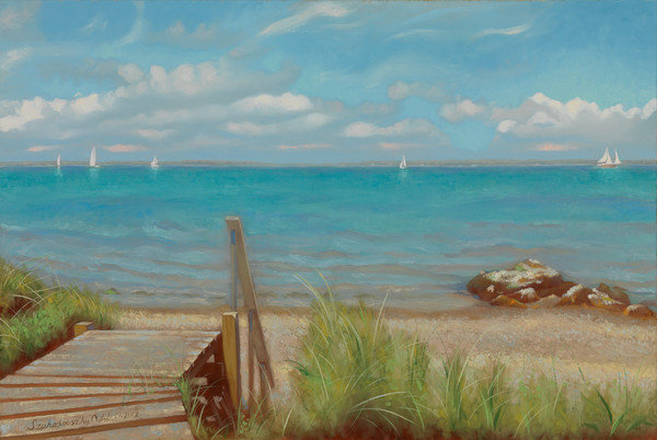 Martha's Vineyard painting of Tashmoo by Niklas Szuhodovsky