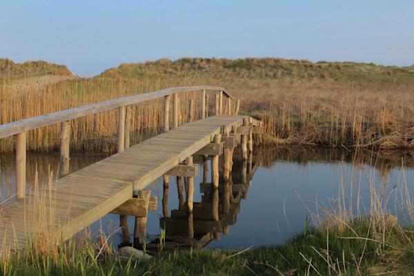 Art photograph of the bridge to Quansoo on Martha's Vineyard