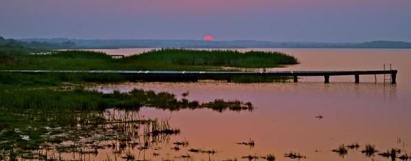 Art Photograph of Chilmark Pond at Sunrise on Martha's Vineyard