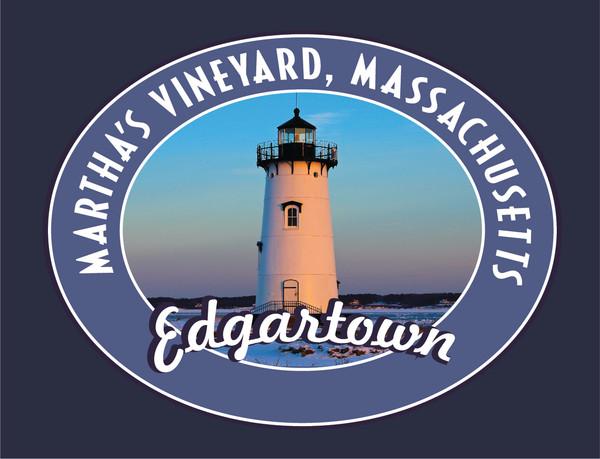 Edgartown Lighthouse poster art featuring the Edgartown lighthouse on Martha's Vineyard.