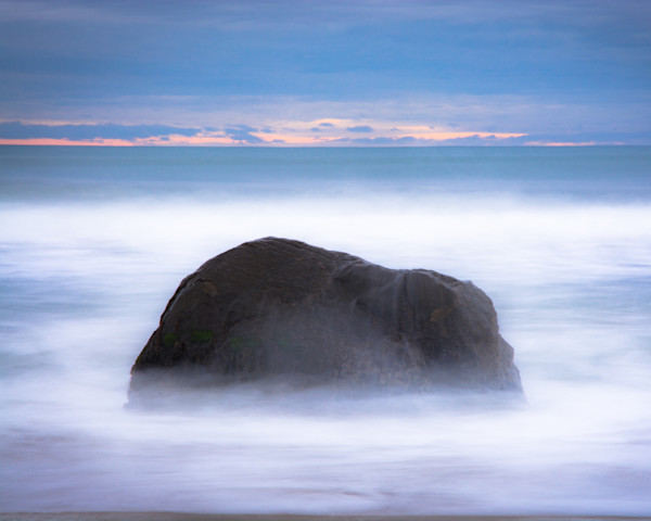 Solitary Rock on Lucy Vincent Beach on Martha's Vineyard