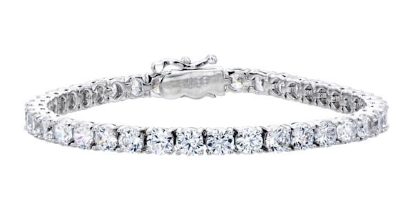 Silver Classic Tennis Bracelet   Southwest Jewelry & Art