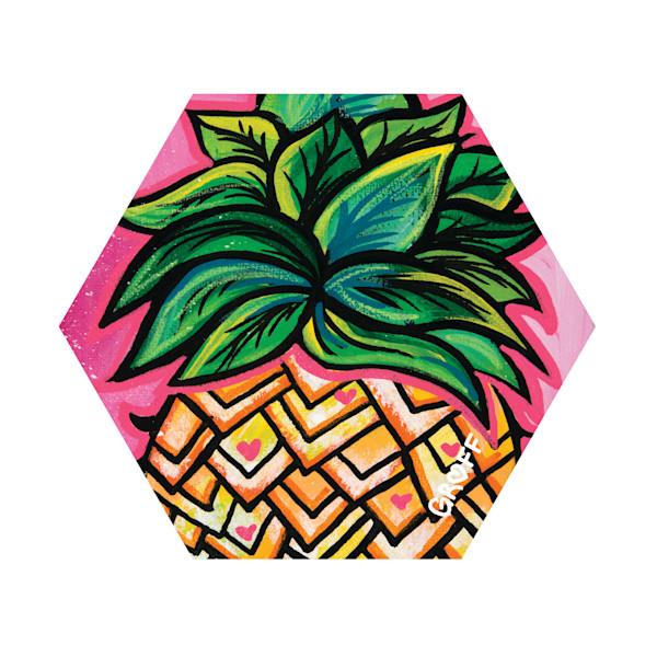 Hex Wood Coasters | Pineapple Jewels