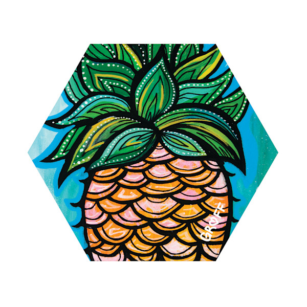 Hex Wood Coasters | Pineapple Scoops