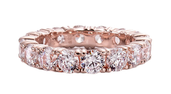 Rose Gold Eternity Ring Band | Southwest Jewelry & Art