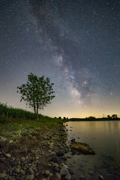 Milky Way Over Crandell Lake - East Side