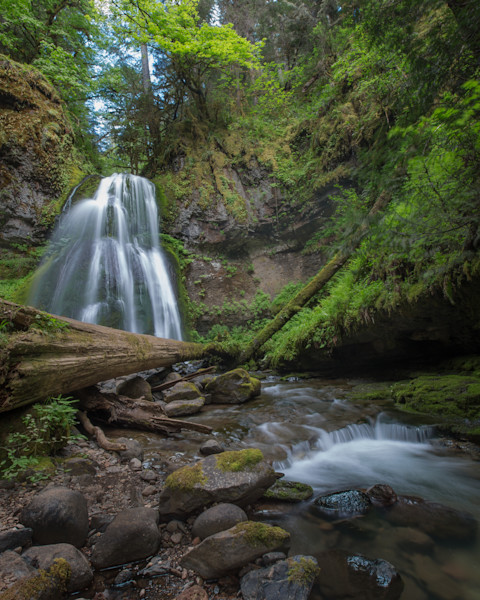 Spirit Falls and Creek Fine Art Photo for sale by Barb Gonzalez Photography