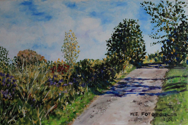 """Road WIth Shadows"" by Joan Fotopoulos 