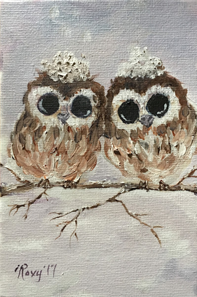 Snowy Owl chicks print