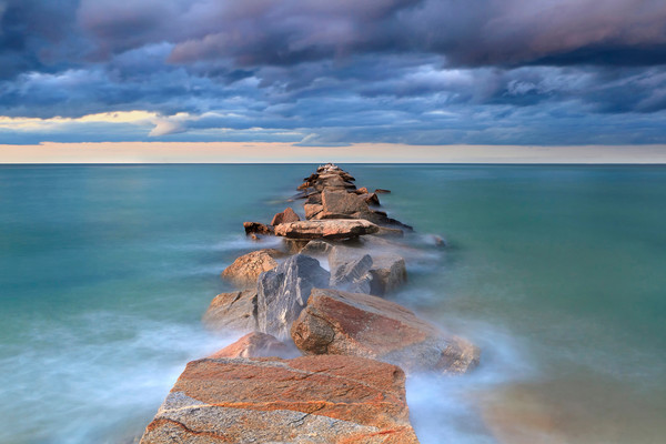 """Jetty Awash"" Jetties Beach, Nantucket Fine Art Seascape Photograph"