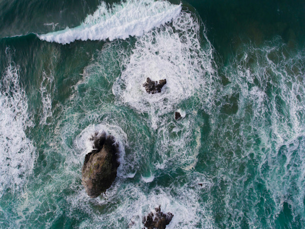 Cannon Beach Rocks Page Peel Aerial