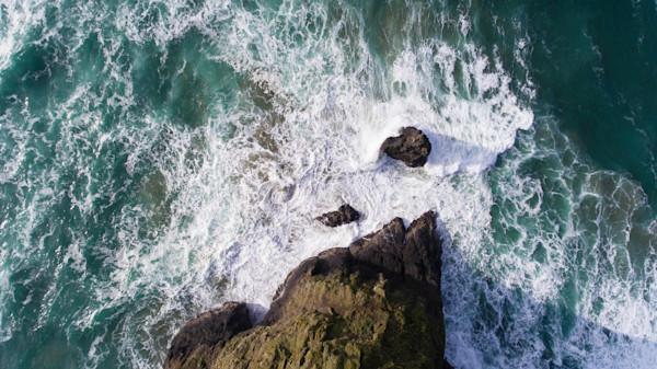 Haystack Rock Point Aerial