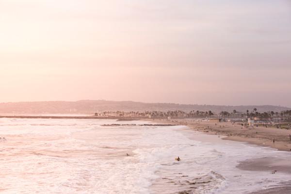 Beach Sunset Shoreline, San Diego