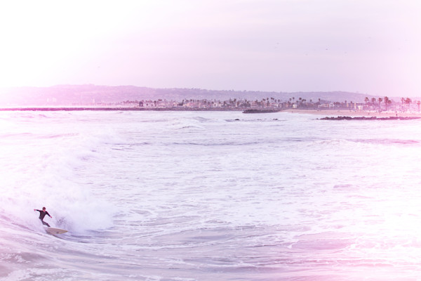 Ocean Beach Surfer Purple, San Diego.